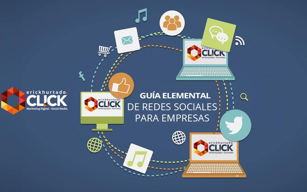 Guía elemental de Redes Sociales para empresas