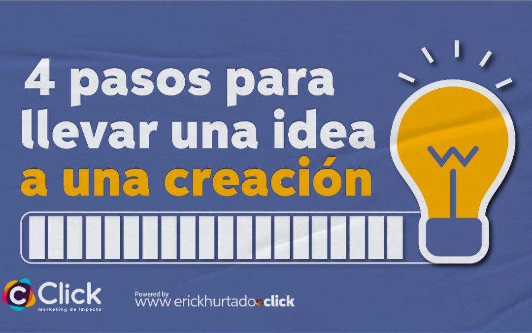 4 pasos para llevar una idea a una creación